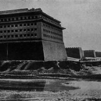Рис. 43. Стены и башни Пекина. XV в. н. э.