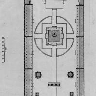 """Рис. 54. План """"Дворца совершенной гармоний"""" (Би-юнь-чун) в Пекине. XIV в. (перестроен в XVIII в.)"""