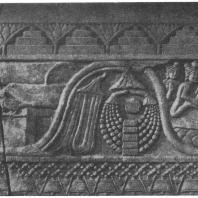 1. Древнеиндийские деревенские дома в рельефах Бхархута (около 250 г. до н. э.)