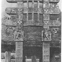 12. Санчи. Большой ступа. Восточные торана (I в. до н. э.)