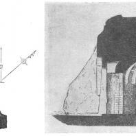 16. Гунтупале. Чайтья. План и разрез (II в. до н. э.)