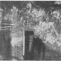 30. Аджанта. Часть росписи пещеры № 1 с буддийскими мотивами (600 — 650 гг. н. э.)