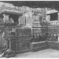 34. Элура. Храм Кайласанатха. Деталь