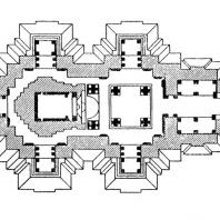 55. Кхаджурахо. Храм Кандарья-Махадева. План (около 1000 г. н. э.)