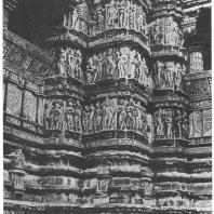 58. Кхаджурахо. Храм Вишванатх. Деталь