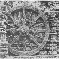 61. Конарка. Храм Сурья. Часть декорации основания