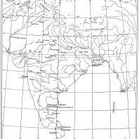 Карта архитектурных центров древней Индии