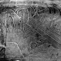 Тимпан Барабана под названием Макаламау. Фрагмент. 50x30 см