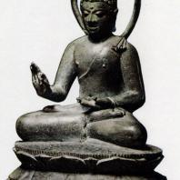 Сидящий Будда. Бронза. IX -X вв. Район Боробудура, Центральная Ява