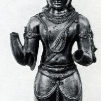 Авалокитешвара из Текарана. Бронза посеребренная. Выс. 83 см. IX-X вв. Район Соло. Центральная Ява. Джакарта. Национальный музей