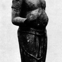 Гуру. Чанди Банон. Камень. Выс. 196 см. IX в. Центральная Ява. Джакарта. Национальный музей