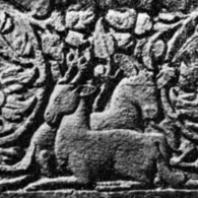 Декоративный рельеф на основании чанди Мендут. 130x50 см. VIII-IX вв.