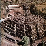 Боробудур. VIII-IX вв. Долина Кеду. Центральная Ява. Аэрофотосъемка