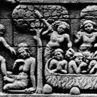 Боробудур. Рельеф заложенного основания с изображением четырех сцен. Размер панели 67×200 см