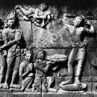 Боробудур. Церемония пострижения Шакьямуни