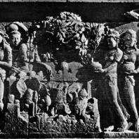Боробудур. Встреча Судханы с Киннарами у источника. Фрагмент
