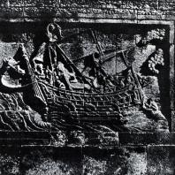 Боробудур. Хиру, высаживающийся на берег. Фрагмент