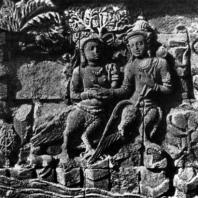 Боробудур. Сцена из джатаки о Бхалатии. Рельеф первой галереи
