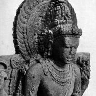 Шива. Фрагмент статуи. Камень. XIV в. Восточная Ява. Джакарта. Национальный музей