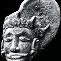 Мужская голова. Фрагмент статуи. Камень. XIV-XV вв. Восточная Ява