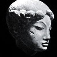 Женская головка. Терракота