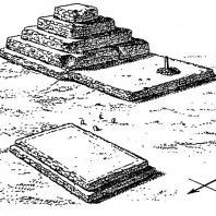 Террасовидное святилище и менгир. Мегалиты. Лебак Сибедунг, Южная Суматра