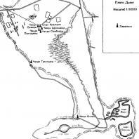 План расположения памятников на плато Дьенг