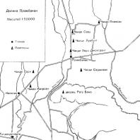 План расположения памятников в долине Прамбанан