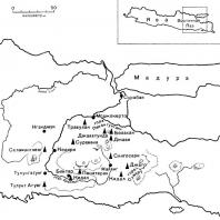 Карта Восточной Явы
