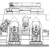 План-реконструкция бассейна Белахан: А – скульптура Вишну-Эрлангги