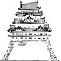 Схема башни замка Нагоя. 1612