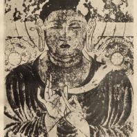 8. Изображение Будды. Стенопись в Хориудзи. Нара. VII в.