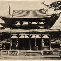 10. Тюмон (средние ворота) храма Хориудзи близ Нара. VII в.