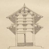 24. Южные ворота (Нандаймон) Тодайдзи. Разрез