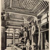 28. Интерьер Кондо храма Тосёдайдзи близ Нара
