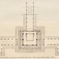 32. Храм Феникса в храмовом ансамбле Биодоин в Удзи близ Киото. План. 1053 г.
