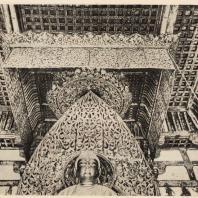 34. Потолок и балдахин над статуей Амиды. Храм Феникса в Удзи близ Киото. 1053 г.