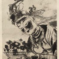 38. Изображение Девата. Фреска в храме Хокайдзи близ Удзи. Округ Киото. Около 1130 г.