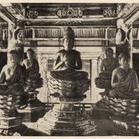 42. Деревянные статуи Тодай-сон в Тахо-то храма Конго-самман-ин на Койя-сан. 1223 г.