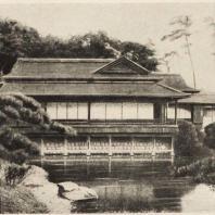 53. Общий вид сельского дома близ Иокагама. Конец XVI в.