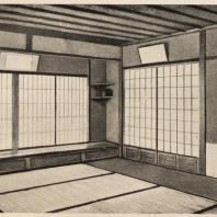 62. Интерьер чайного павильона в Иокогама. Конец XVI в.