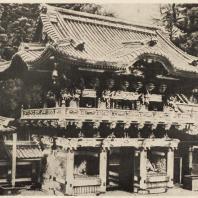 76. Мавзолей Тосёгу в Никко. Ворота Иомеймон. Вид с другой стороны. XVII в.