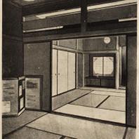 90. Жилые комнаты в доме Баба в Токио по проекту архитектора Т. Иосида. 1930 г.