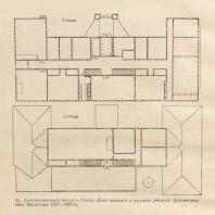 93. Художественная школа в Осака. План нижнего и верхнего этажей. Архитектор Ито Масабуми. 1927—1929 гг.
