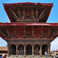 Непал, Лалитпур (Патан), парадная дворцовая площадь (дюрбар), Храм Vishwanath, 1627 г.