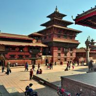 Непал, Лалитпур (Патан), парадная дворцовая площадь (дюрбар), Королевский дворец
