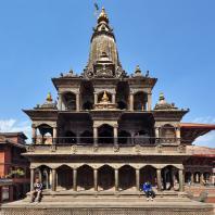 Непал, Лалитпур (Патан), парадная дворцовая площадь (дюрбар), Храм Кришны Мандир, XIII в.