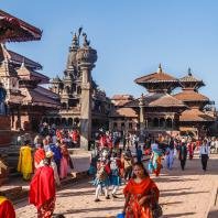 Непал, Лалитпур (Патан), парадная дворцовая площадь (дюрбар)