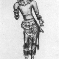 43. Скульптура бодхисаттвы Майтрейи из Анурадхапуры. VI—VII вв. Музей Коломбо