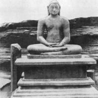 53. Статуя Будды из Вата-да-ге в Полоннаруве. XII в.
